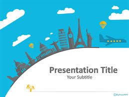 travel template powerpoint travel themed powerpoint template free