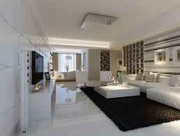 Modern White Marble Flooring For Living Room With Black Carpet And Marble Floors In Bedroom