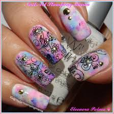 nail art stamping mania opal nail art with uberchic beauty plate