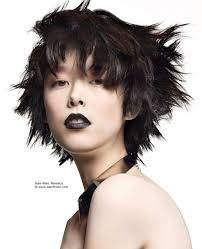 short haircut with choppy texture for asian women