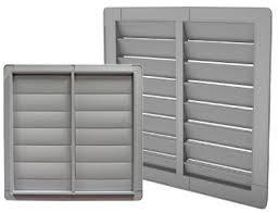 pvc fan shutters custom made to your hog barn fan size