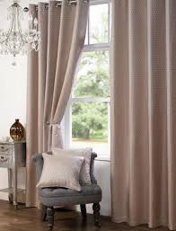 Coloured Curtains Curtains Stylish Trendy Ringtop Eyelet Lined Jacquard Textured