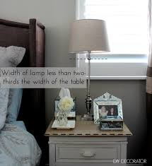 what is right bedside lamp height diy decorator