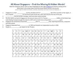 singapore worksheet free kids science word search games