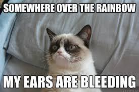 My Ears Are Bleeding Meme - somewhere over the rainbow my ears are bleeding misc quickmeme