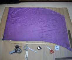 how to make a colorguard practice flag 6 steps