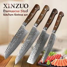 japanese kitchen knives for sale xinzuo 4pcs professional japanese damascus steel chef kitchen