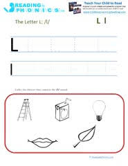 learning phonics sounds for kids letter l and the l sound