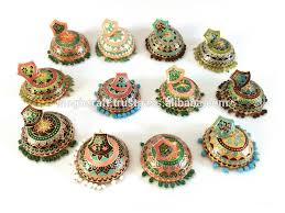 jhumka earring designer meenakari jhumka earring meenakari big jhumka