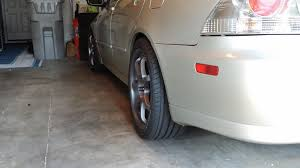 lexus is200 tires 18 x 8 mb weapons on i went a bit big on the tires though