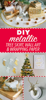 metallic christmas wrapping paper diy metallic christmas tree skirt wall wrapping paper