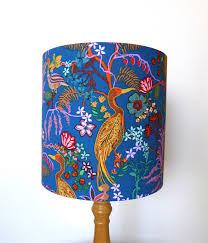 Www Handmade Au - floral lshade blue l shade handmade in australia