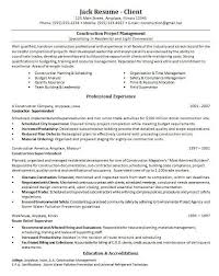 Project Manager Sample Resume Format by Project Manager Resume Template Infrastructure Project Manager
