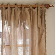 Brown Linen Curtains Linen Sheer 52x84 Natural Curtain Panel Crate And Barrel For Linen