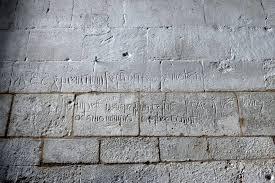 medieval graffiti at ashwell reflections