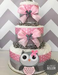 owl cakes for baby shower owl baby shower cake in pink and grey owl baby