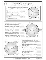2nd grade 3rd grade math worksheets reading bar graphs circle
