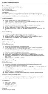 Entry Level Business Analyst Resume Objective Sample Resume For Quality Analyst Entry Level Business Analyst