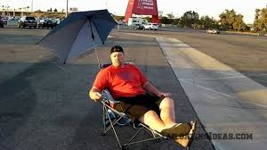 Sports Chair With Umbrella Sportbrella Reclining Chair Youtube