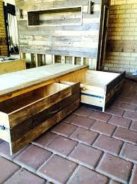 bed frame with lights wood pallet bed frame with lights or pallet storage friendly bed 24