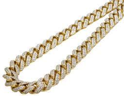 diamond necklace yellow gold images 10k yellow gold miami cuban chocker big lock iced diamond necklace jpg