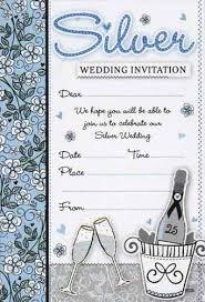 silver anniversary ideas silver jubilee wedding anniversary invitation cards silver