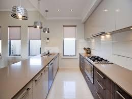 galley kitchens designs ideas kitchen contemporary white galley kitchen design with blue led