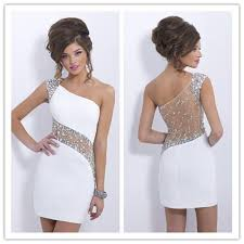 2015 elegant blush c153 crystals white cocktail dresses one