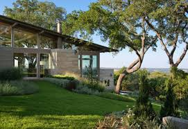 Outdoor House Hillside Dwelling In Texas With A Fantastic Indoor Outdoor Connection