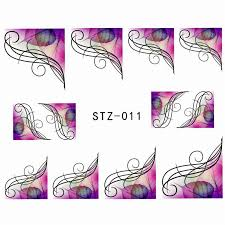 1000sheets wholesale cartoon nail art flower water transfer