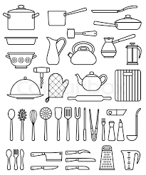 kitchen tools and equipment kitchen utensils silhouette set of silhouette kitchen utensils and