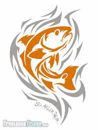 mahi and redfish t shirt designs freelance fridge illustration