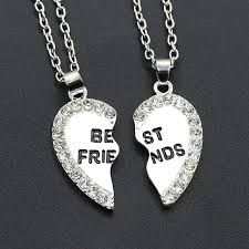 silver best friend necklace images 1 pair women men best friends pendants silver gold bff necklace jpg
