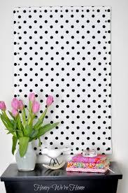 Black And White Polka Dot Curtains Diy Inspiration Memo Board Honey We U0027re Home