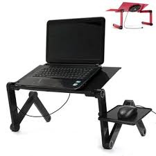 lighted laptop desk tray portable adjustable foldable laptop notebook pc desk table vented