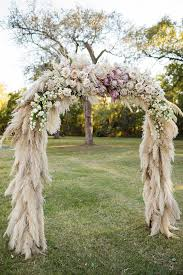 Wedding Arches Dallas Tx Texas Wedding Featuring Pampas Grass Decor Mon Cheri Bridals