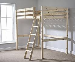 Bunk Bed Adults 4ft 6 Loft Bunkbed Wooden High Sleeper Can Be Used By