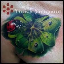 Ladybug And Flower Tattoos - lady bug on four leaf clover by yorick fauquant tattoonow
