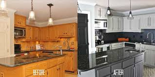 Painted Black Kitchen Cabinets Painted Black Painted Kitchen Cabinets Before And After Kitchen
