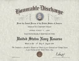 honorable discharge certificate navy reserve honorable discharge certificate
