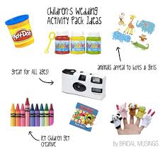 what to include in a child s wedding activity pack kid
