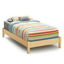 twin wooden bed frame u2013 bare look