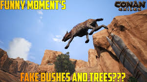 Fake Bushes Conan Exiles Funny Moment U0027s Fake Bushes And Trees Xbox One