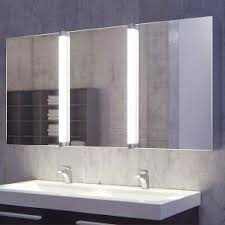 led bathroom mirror cabinets three doors with built in demister