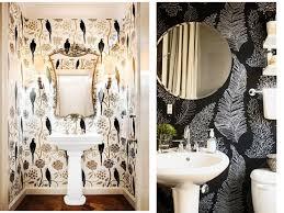 half bath half bath wallpaper inspiration niche nook
