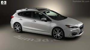 subaru sti 2016 white 360 view of subaru impreza 5 door hatchback 2016 3d model hum3d