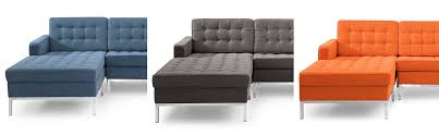 Tufted Sofa With Chaise by Cubix Modern Tufted Chaise Sofa Sectional