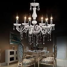Elegant Crystal Chandelier 6 Light Crystal Chandelier Ebay