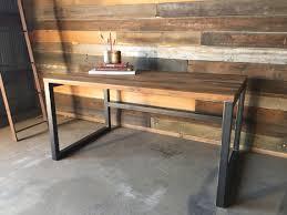 Modern Wooden Desks Reclaimed Wood Desk Industrial Reclaimed Wood Desk Modern