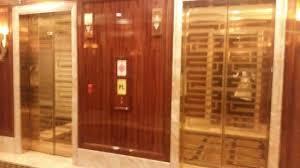 lobby elevator gold picture of trump international hotel las